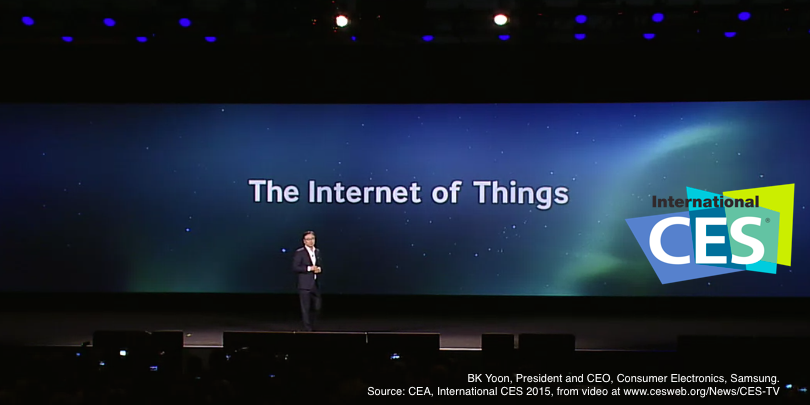 BK Yoon Keynote CES 2015 – Source: CEA, CES 2015, from video at http://www.cesweb.org/News/CES-TV