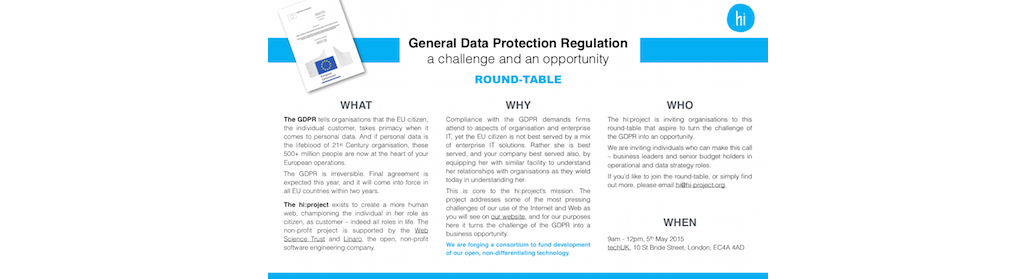 GDPR round-table invitation 5 May 2015