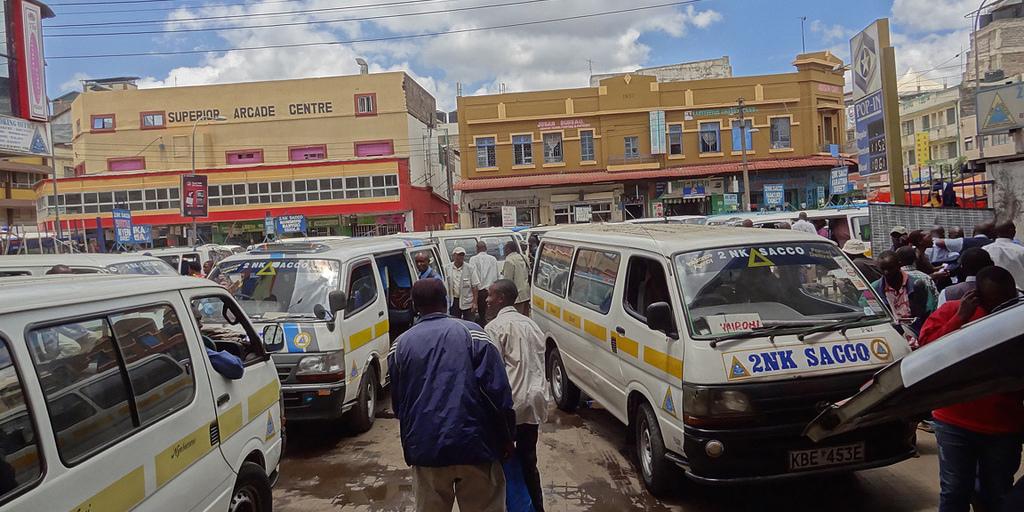 Matatus in Nairobi Kenya