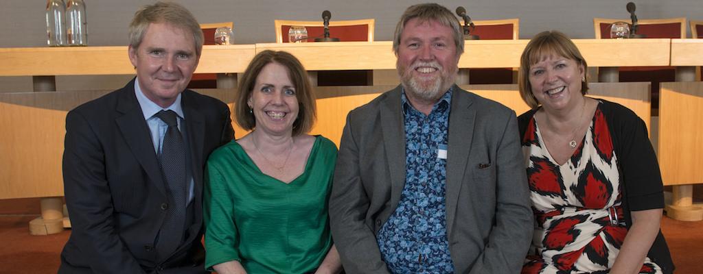 WSI launch 2014 – Professors Shadbolt, Carr, Halford, Hall