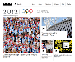 BBC Olympics 2012 screenshot
